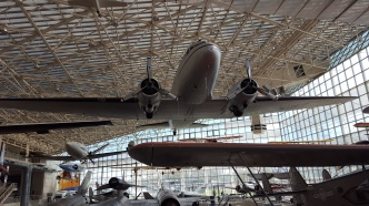 One of the many planes on display